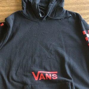 Vans black and red hoodie